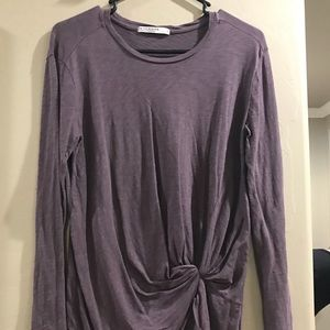 Stateside knotted long-sleeved tee